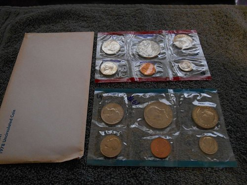 1978 US Mint set D and P