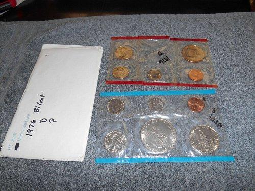 1976  D and P  US Mint set (Partial)