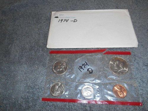 1974  D US Mint set (Partial)