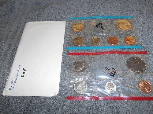 1973  P and D US Mint sets (Partial)