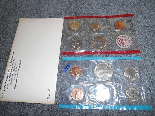 1972 P and D US Mint sets