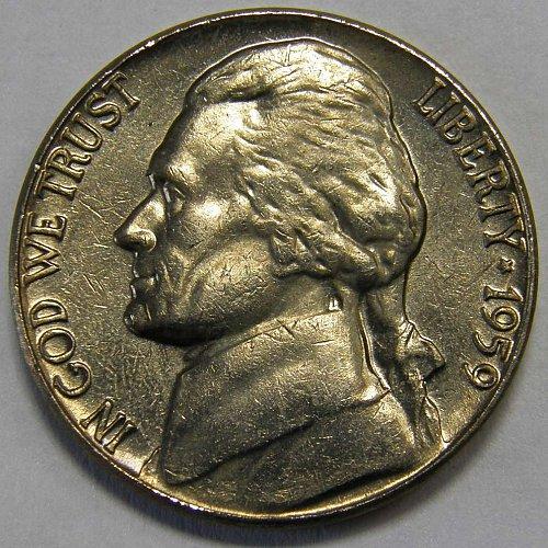 1959 P Jefferson Nickel #1