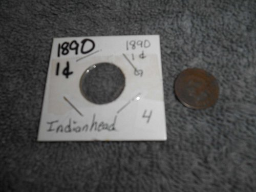 1890 US  Indian head penny