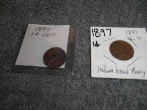 1897 US  Indian head penny