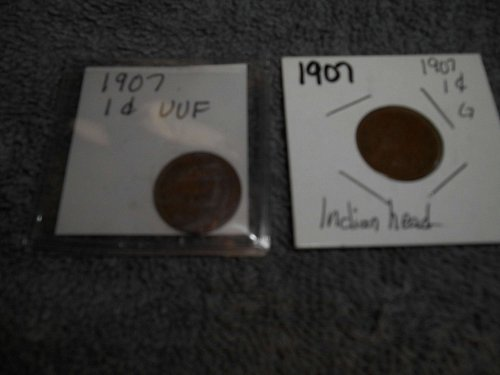 1907 US INDIAN HEAD PENNY