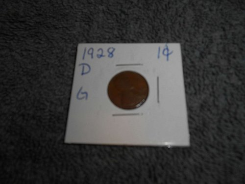 1928 US Lincolin pennies