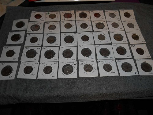 1965 US Jefferson nickels