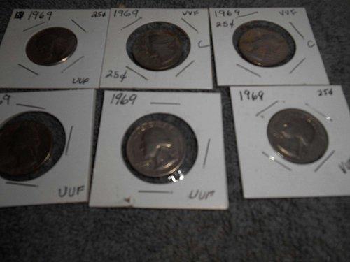 1968 & 1969 US Jefferson Nickels