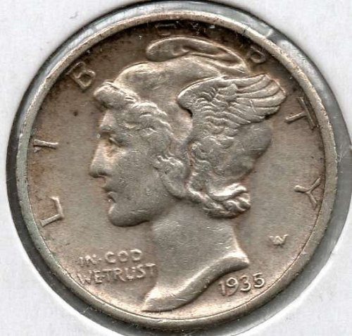 1935 D Mercury Dime