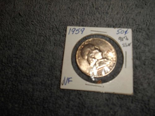 1959 50C Franklin Half Dollar