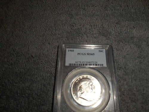 1960 50C Franklin Half Dollar MS65