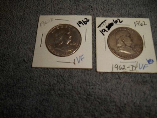 1962 50C Franklin Half Dollar