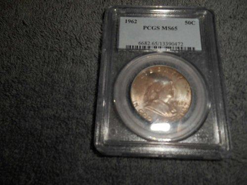 1962 50C Franklin Half Dollar MS65