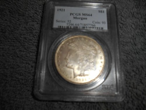 1921 $1 Morgan Silver Dollar ms64