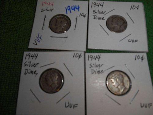 1944 & 1945 mercury dimes