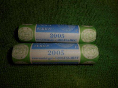 2005  2.00 roll of westward journey nickels