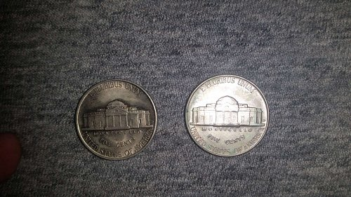 Pair of Beautiful 1939-D Jefferson Nickels