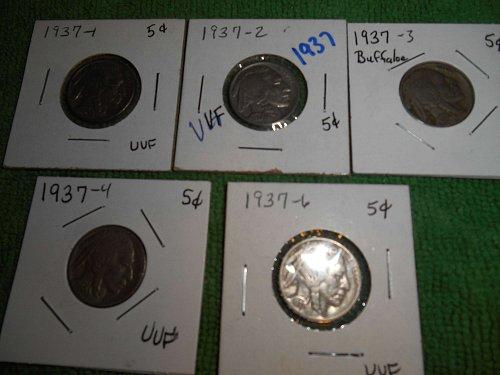 1937 buffalo nickels