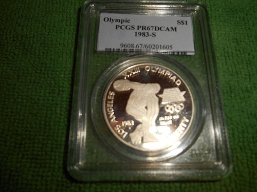 1983-S Olympic commenorative silver one dollar pr67