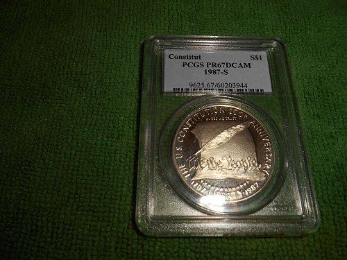 1987-S Constitution Commemorative Silver Dollar - PR-67DCAM PCGS