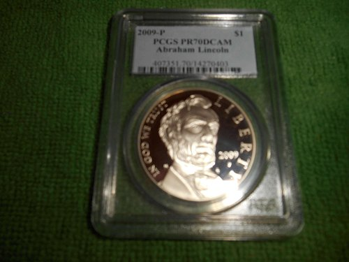 2009-P Abraham Lincoln Commemorative Silver Dollar PR 70 PCGS