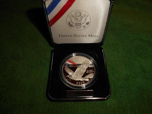 2008 Bald eagle commemorative silver one dollar