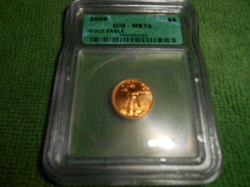 2006 $5 gold eagle ms 70