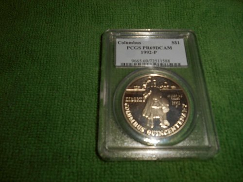 1992-P Columbus $1 silver commemorative pr69