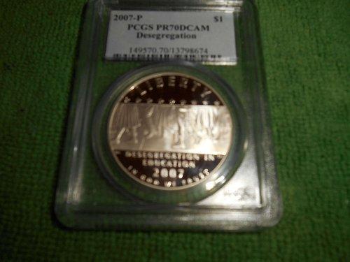 2007-P School Desegregation $1 silver pr 70