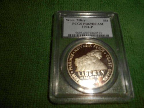 1994-P Women in the Military silver $1 commemorative pr69