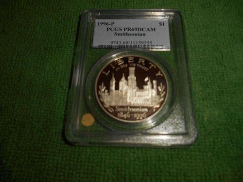 1996-P Smithsonian silver $1 commemorative pr69