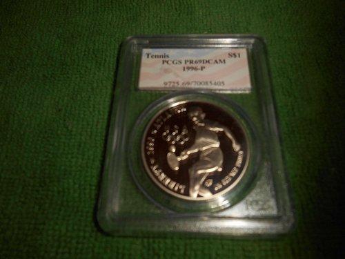 1996-P Tennis  silver $1 commemorative pr69