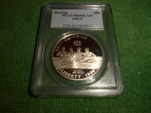 1996-P olympic rowing silver $1 commemorative pr69