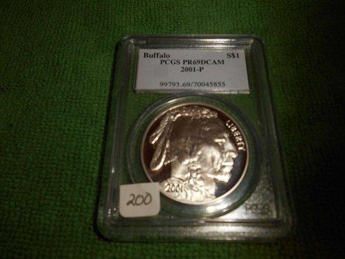 2001-P Buffalo silver $1  commemorative pr69
