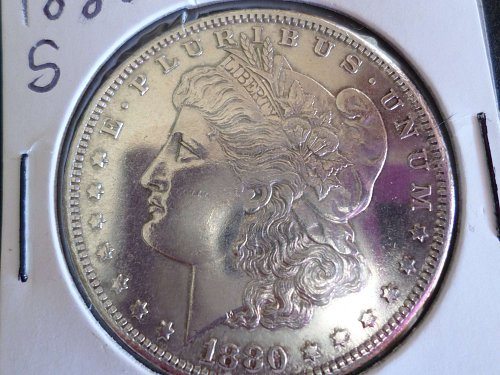 1880 S Morgan Dollars: B