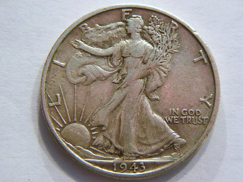 1943-S Walking Liberty Silver Half Dollar