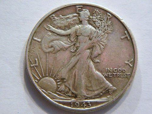 1943-S Walking Liberty Silver Half Dollar