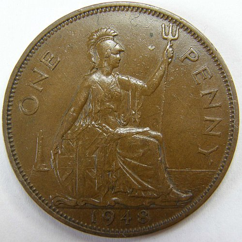 1948 Great Britain One Penny