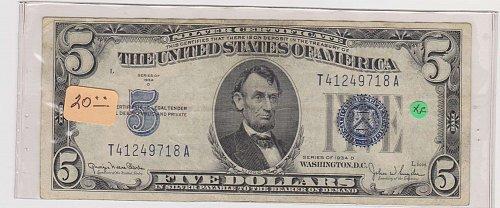 1934-D $ 5 Silver Certificate