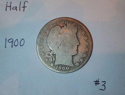 1900 P Barber Half Dollar #3