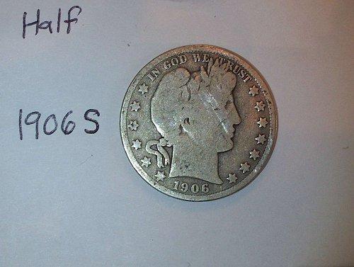 1906 S Barber Half Dollar