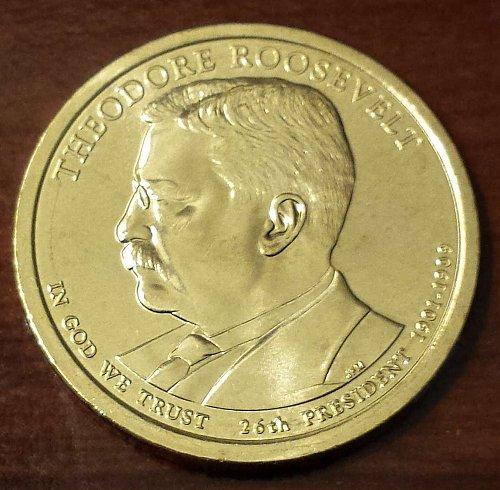 2013-D Roosevelt Golden Presidential Dollar - From Mint Roll (5173)