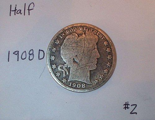 1908 D Barber Half Dollar #2
