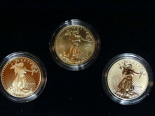 2006-W ( 3-Coin) Gold Eagle Set w/Box & CoA 20th Anniversary