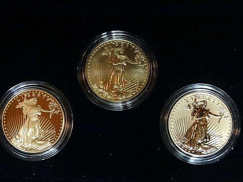 2006-W ( 3-Coin) Gold Eagle Set w/Box & CoA 20th Anniversary