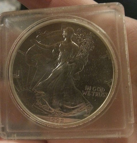 1992 silver american eagle silver dollar