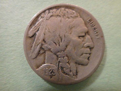 1923-S Buffalo Nickel Fine-15 With 3/4 Horn!