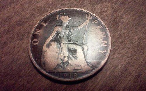 1918 British Penny