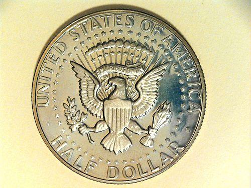 1981 S Proof Kennedy Half Dollar Type 2, some hazing