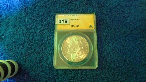MS 62 1882-S Morgan Dollar MS62  (Item #  019)